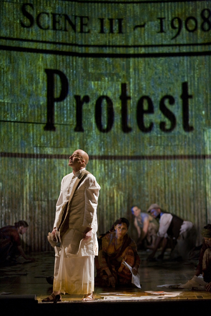 "Richard Croft in ""Satyagraha."""