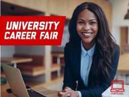 University Virtual Career Fairs begin Feb. 23.