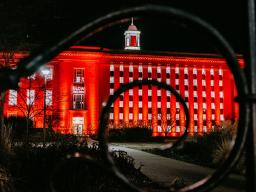 """The University of Nebraska-Lincoln invites its supporters to """"Glow All In"""" during Glow Big Red."""
