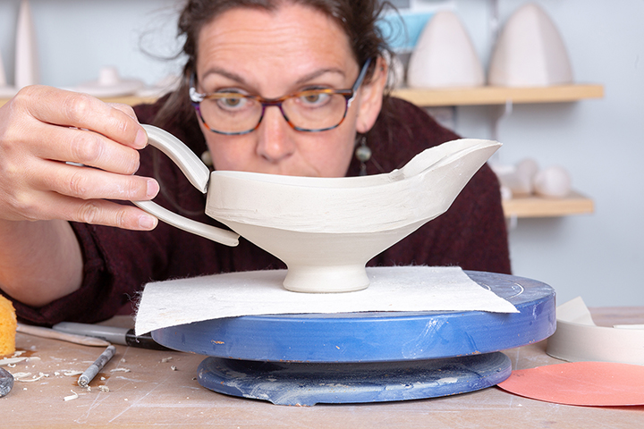 Seattle-based studio potter Deb Schwartzkopf will present the Hixson-Lied Visiting Artist Lecture on March 24.