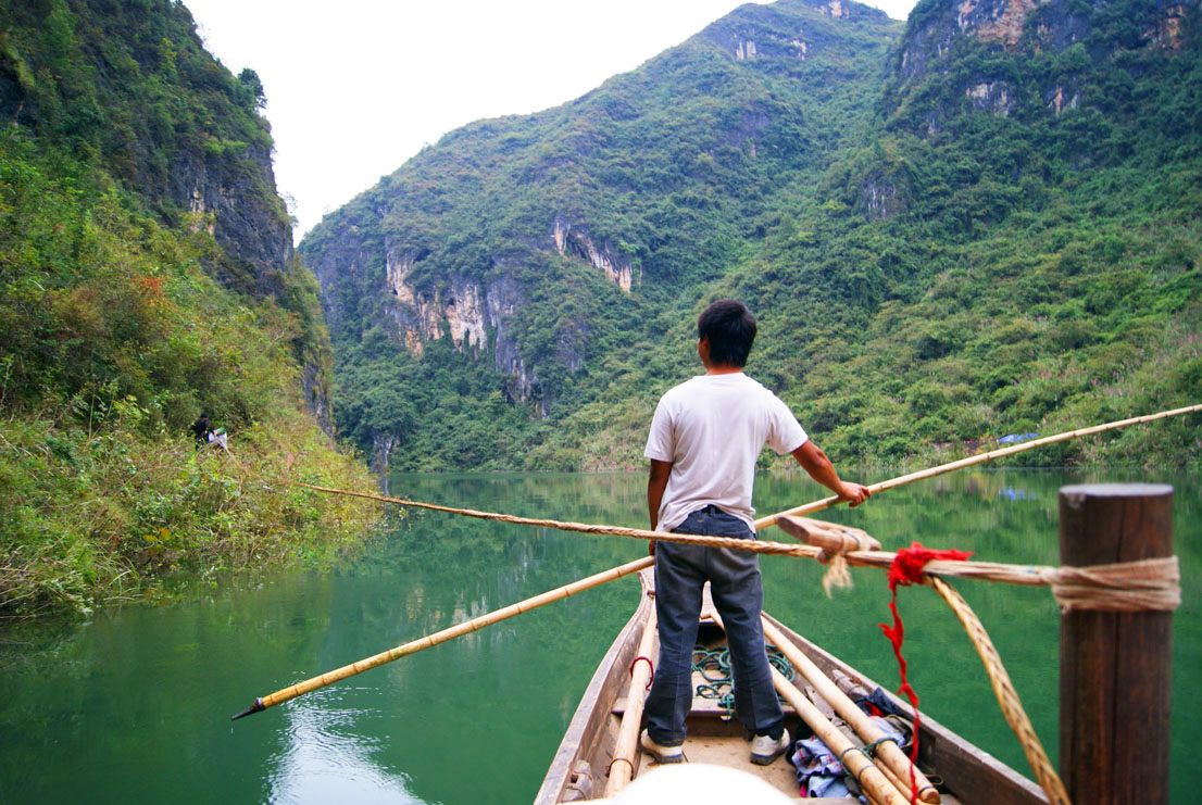 Z. Johnson on the Yangtze River, China