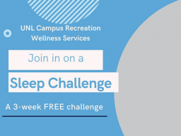 Register by February 26 for Campus Recreation's Sleep Challenge.