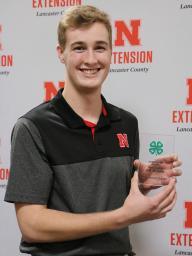 Outstanding 4-H Member Nathaniel Gabel