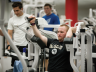 A student exercises in Campus Rec Center. Photo by Craig Chandler, University Communications