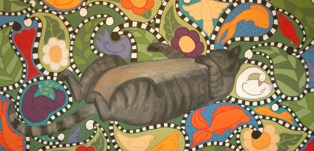 """""""Cat Nap"""" by DeAnna Larson was featured in the 2008 UNL staff art exhibition."""