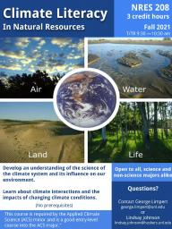 NRES 208: Climate Literacy in Natural Resources