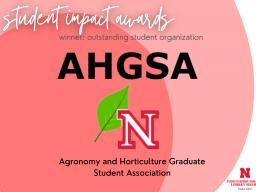 Outstanding Student Organization: AHGSA
