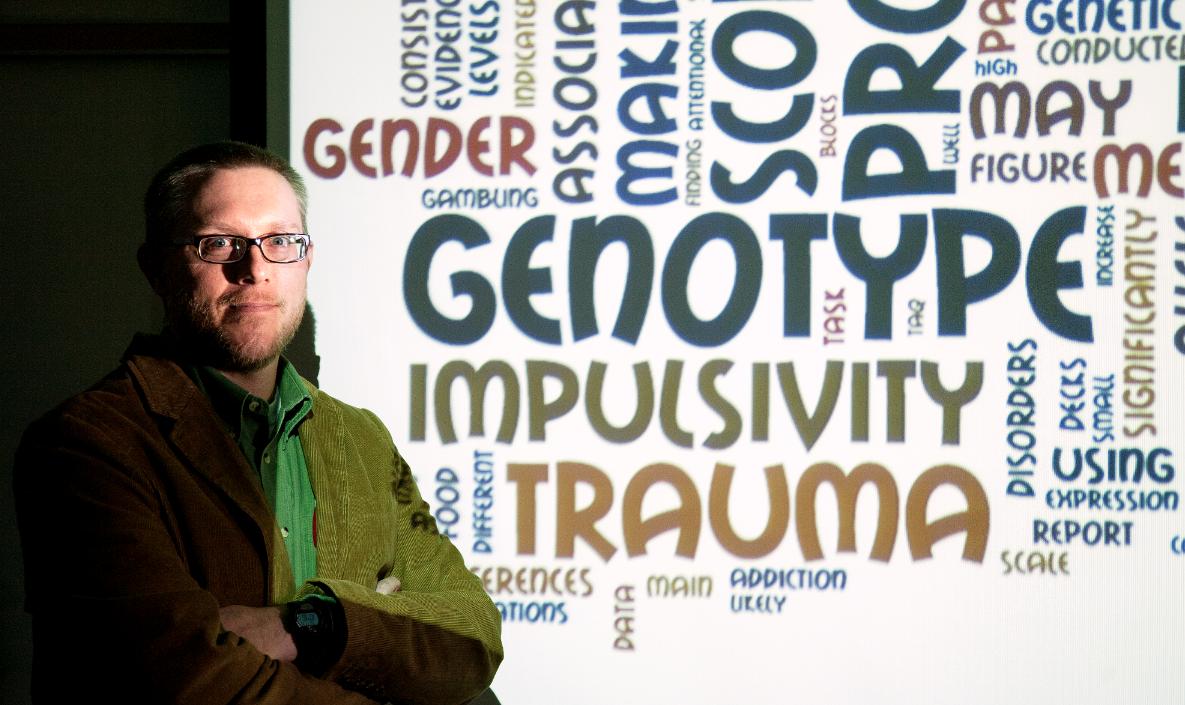 UNL assistant professor of psychology Scott Stoltenberg. (Photo by Craig Chandler, University Communications)