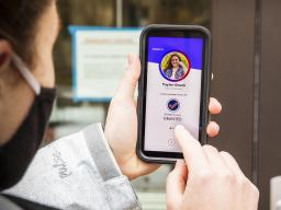 The Safer Nebraska app can be used to schedule your COVID test on campus. [photo by Craig Chandler | University Communication]