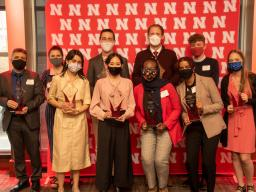 Student Luminary recipients were honored during an April 16 reception at the Nebraska Champions Club.