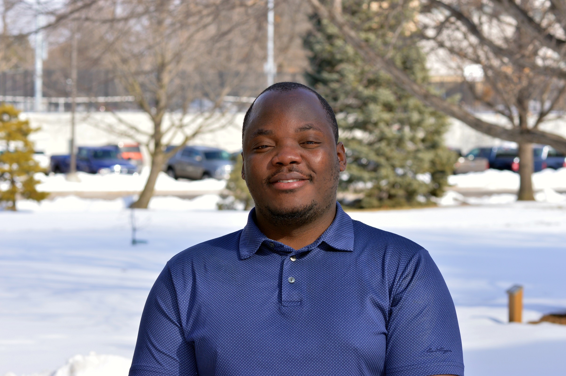 National Drought Mitigation Center research assistant Andrew Mwape is working with the state of Nebraska and four of its Natural Resources districts on drought planning for the Republican River Basin.