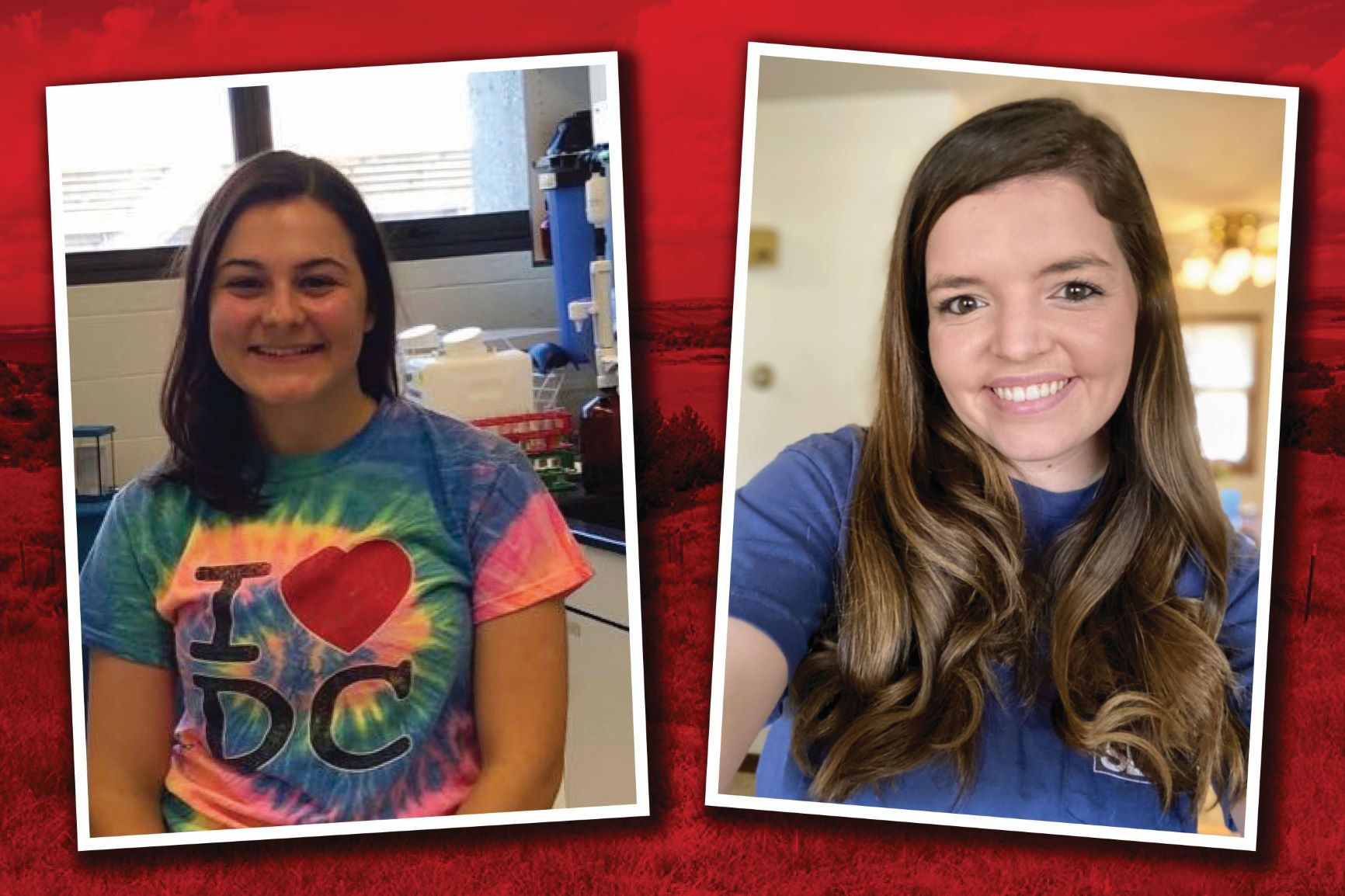 Two UNL School of Natural Resources students, Kristina Amato (left) and Kaitlyn Dozler, were honored for their undergraduate research.