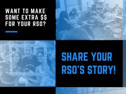 Earn $50 For your RSO!