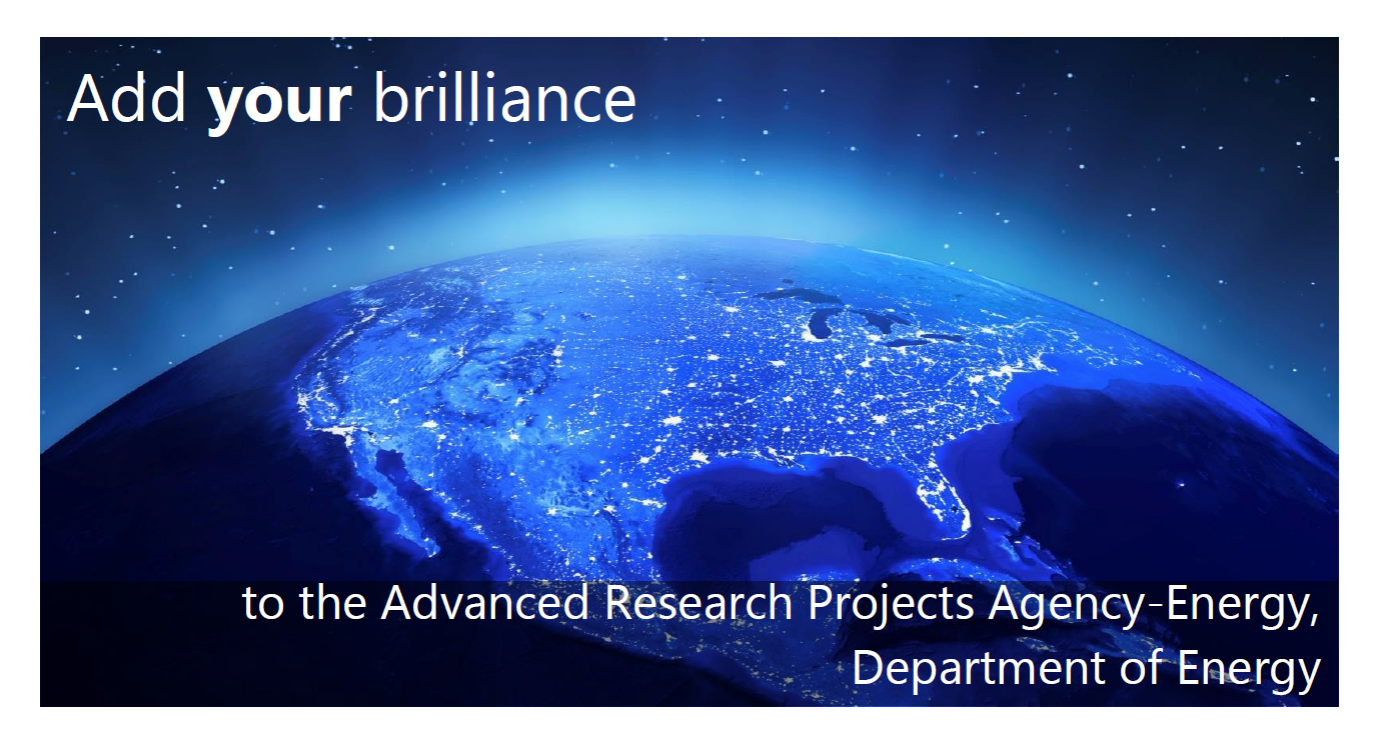 If you are interested in learning more about this prestigious, two-year, paid ARPA-E Fellows program, please join the informational webinar on Wednesday, June 30, 2021.