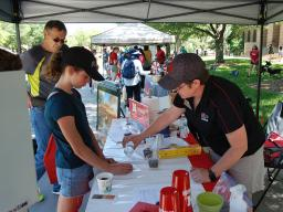 Extension staff present a hands-on activity at each of this summer's East Campus Discovery Days.