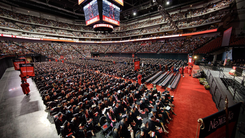 The University of Nebraska–Lincoln will confer more than 600 degrees during commencement exercises Aug. 13 and 14 at Pinnacle Bank Arena. The Class of 2020 also will be celebrated during the ceremonies.
