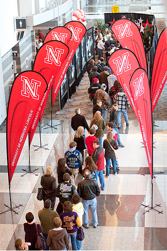Members of the public line up to take part in the 2010 Big Red Road Show in Omaha. The 2011 Big Red Road Show is March 4.