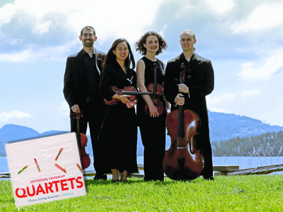 Members of the Chiara String Quartet are (from left) Jonah Sirota, Julie Yoon, Rebecca Fischer and Gregory Beaver.