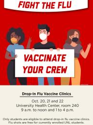 Get your free flu shot at the University Health Center!