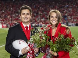 Seniors Bobby Martin and Leigh Jahnke were crowned homecoming royalty during halftime of the Nebraska-Northwestern football game Oct. 2.