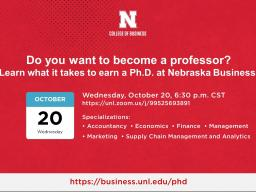 Information Session: PhD Programs in Business and Economics