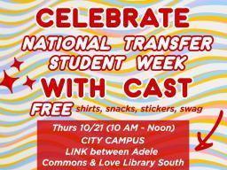 Celebrating National Transfer Student Week