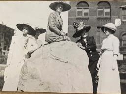 Photograph taken at the University of Nebraska in 1916 from Julia Power's 1909-1916 photo album.