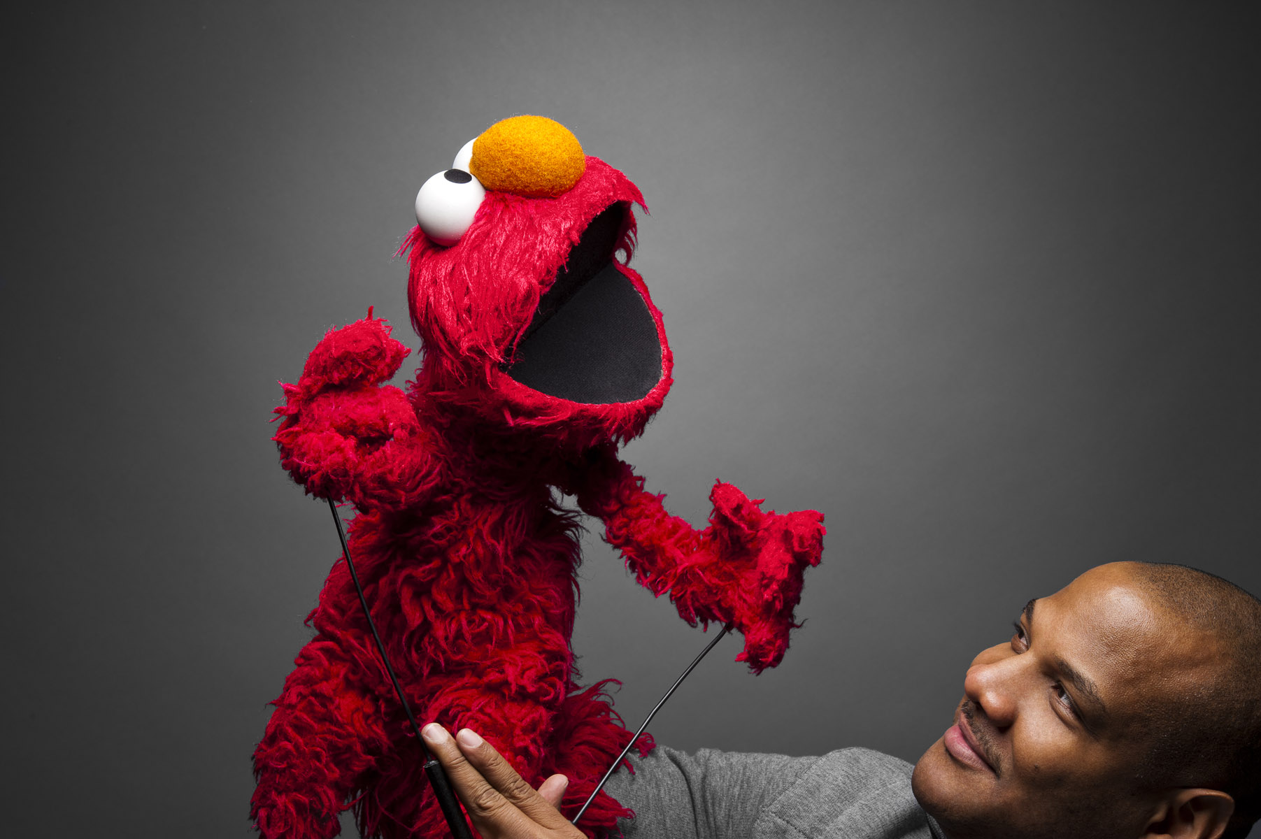 "Kevin Clash in ""Being Elmo."""
