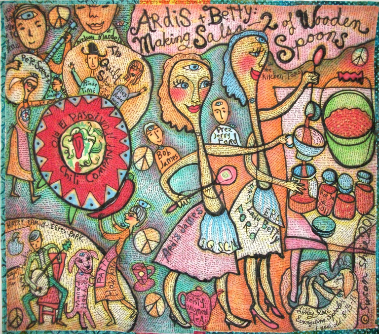 "The quilt ""Ardis and Betty"" by Susan Shie."