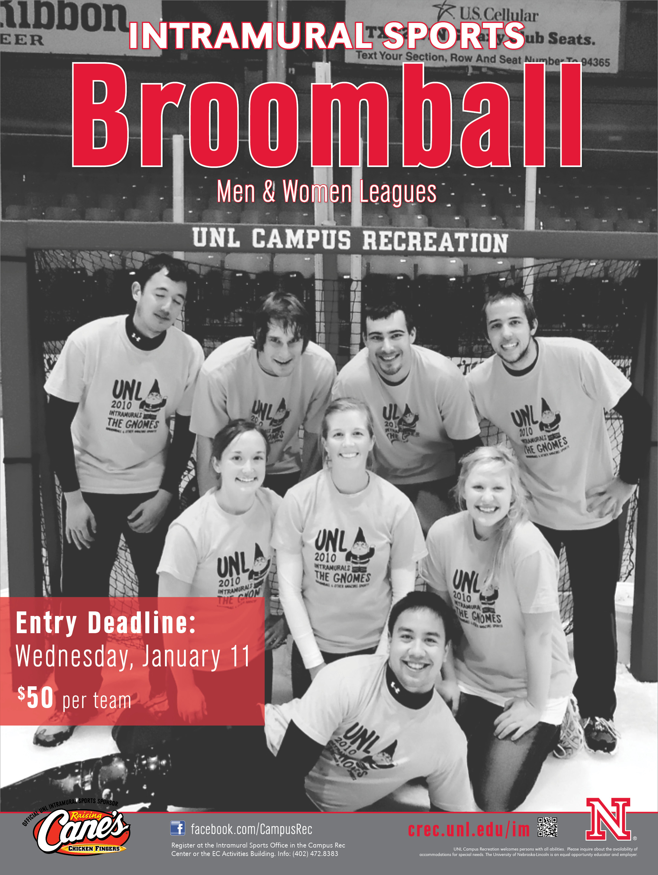 Men's and women's teams will play this spring to become Intramural Sports' champions. Entry deadline is Jan. 11.
