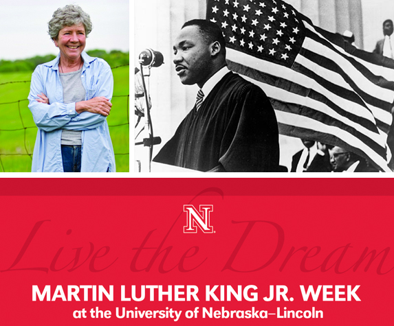 The observance of Martin Luther King Jr. week at UNL includes a 2 p.m., Jan. 16 lecture by Lincoln author Mary Pipher (left).