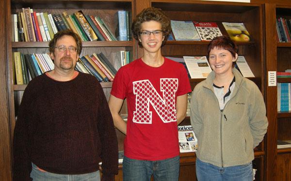 Richard Rebarber, Math Scholar Jesse Epperson and graduate student mentor Brittney Hinds