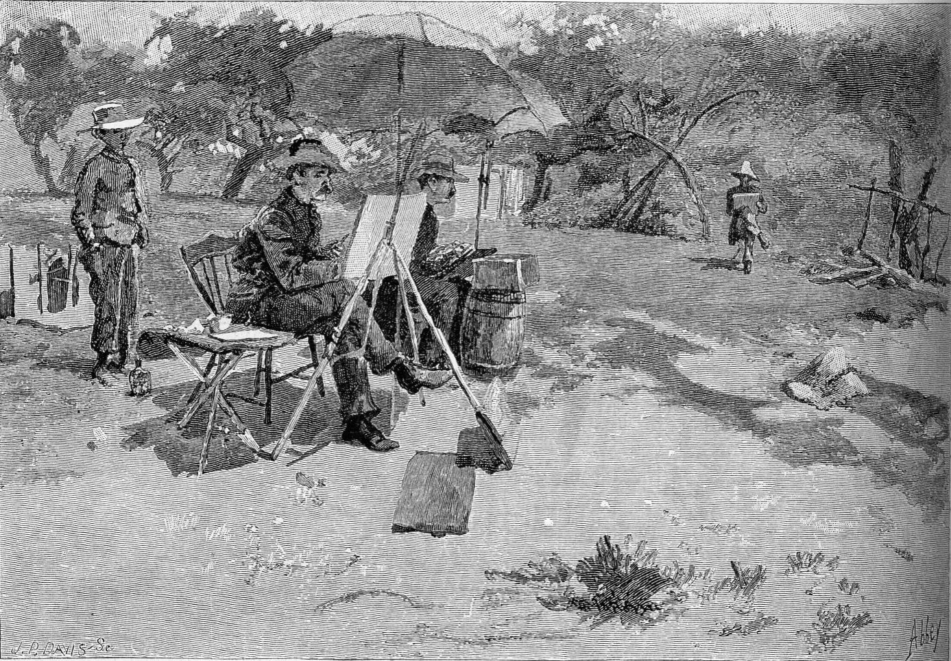 The Tile Club Sketching at Easthampton, Scribners, 1879