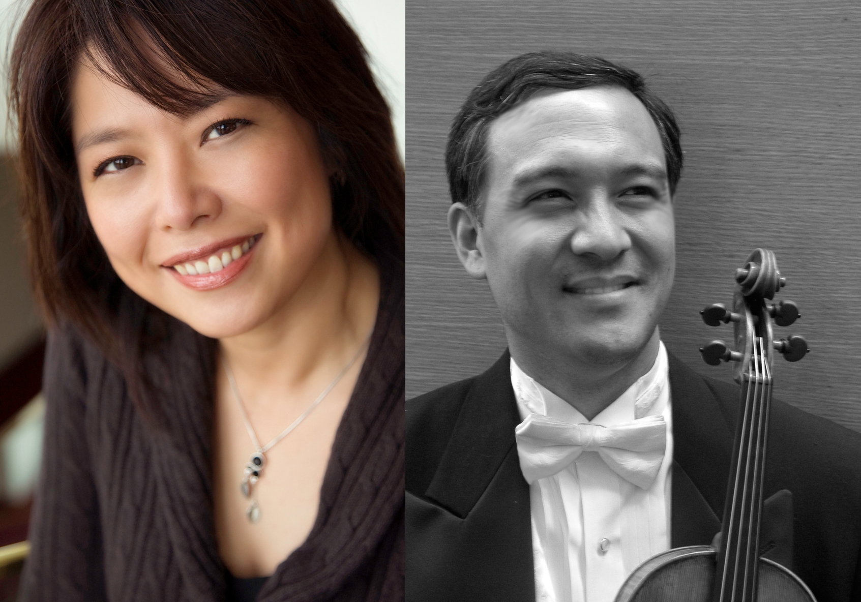 Pianist Ann Chang (left) and Violinist Paul Hsun-Ling Chou.