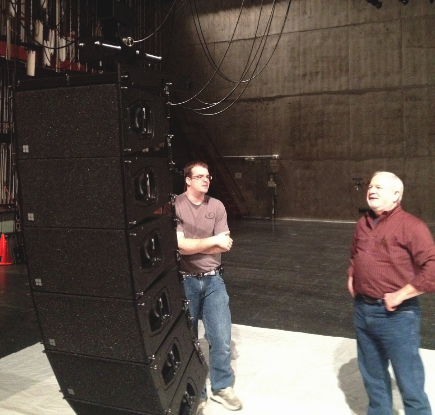 A new state-of-the-art sound system is being installed at the Lied Center for Performing Arts.