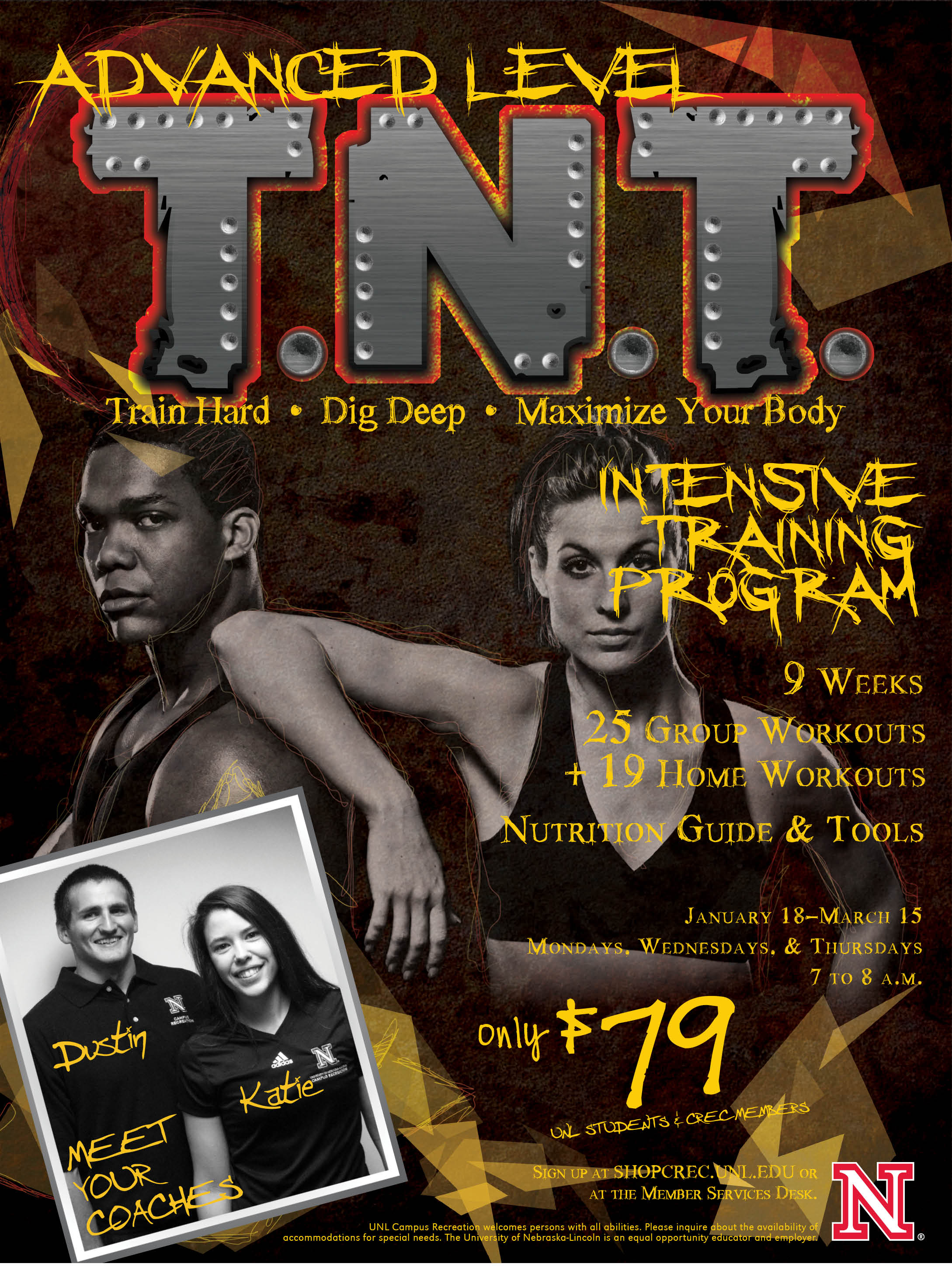 T.N.T. fitness program last nine weeks and will conclude right before Spring Break.