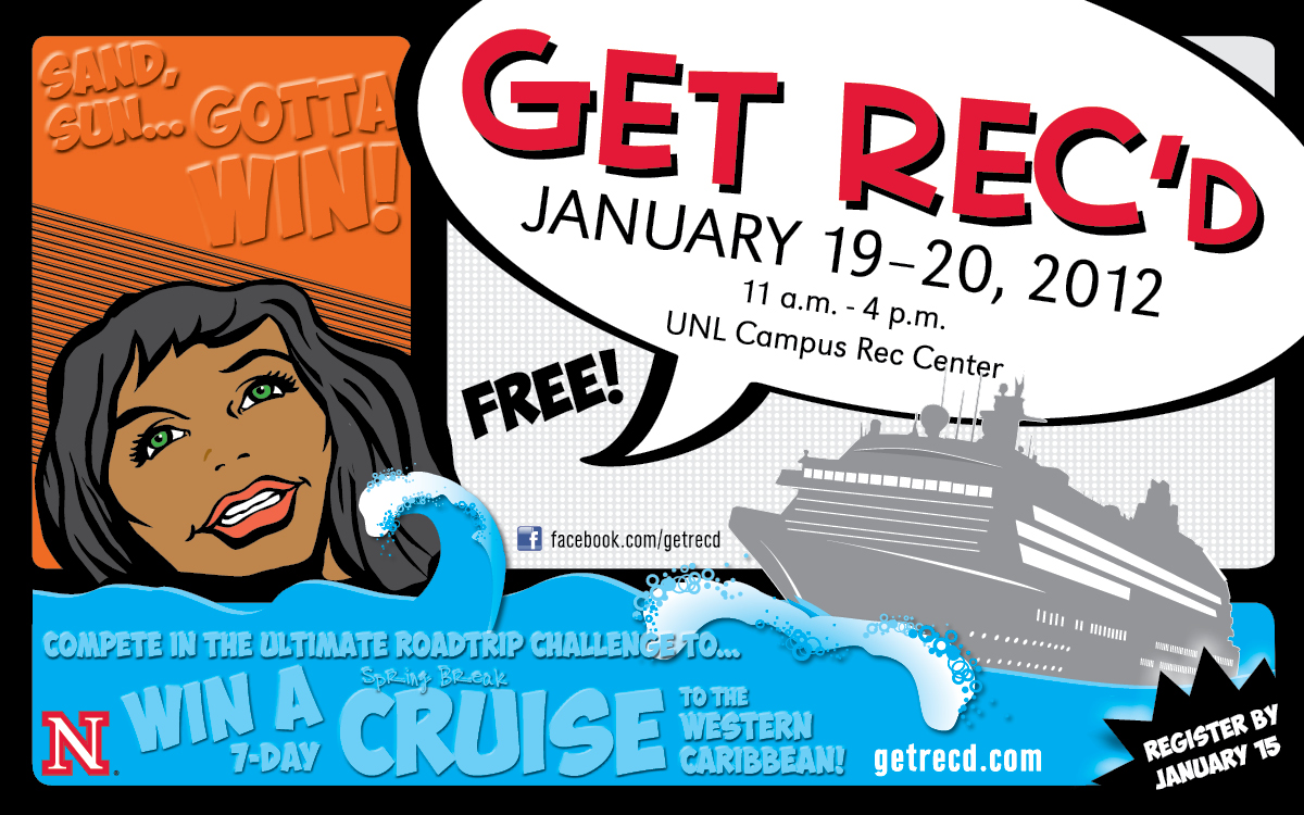 Two students will win a 7-day Caribbean Cruise in the Ultimate Road Trip Challenge at GET REC'd.