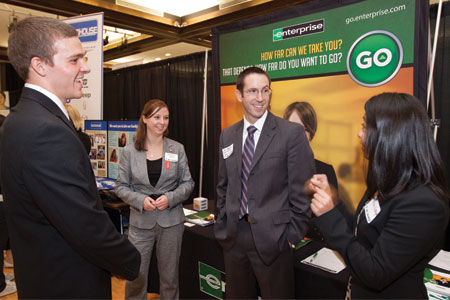 Enterprise Rent-a-Car, one of 200 employers participating in the two-day UNL Career Fair.