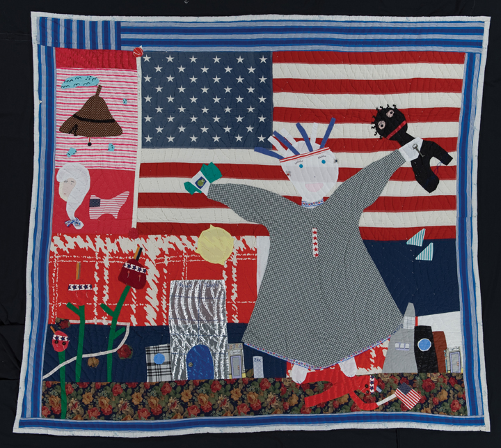 "Yvonne Wells' quilt, ""Being In Total Control of Herself."""