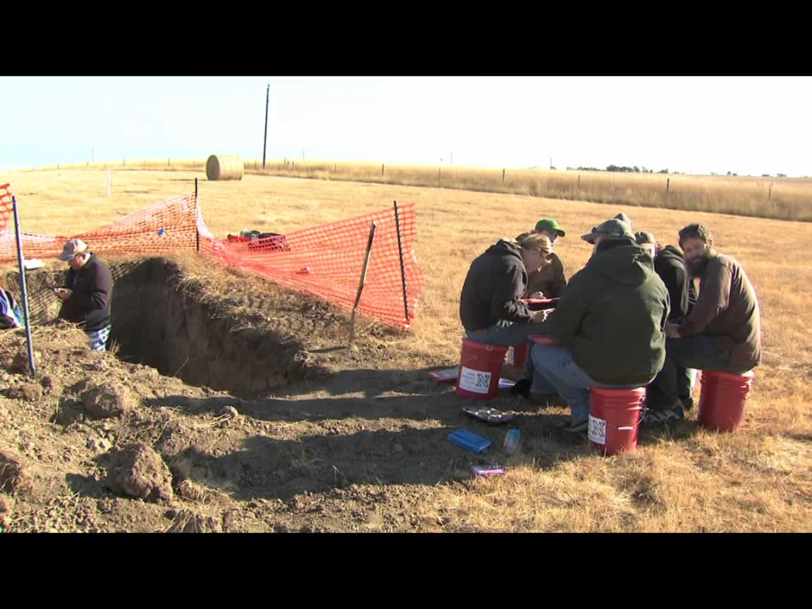 UNL's Soil Judging Team in action at a competition in South Dakota.