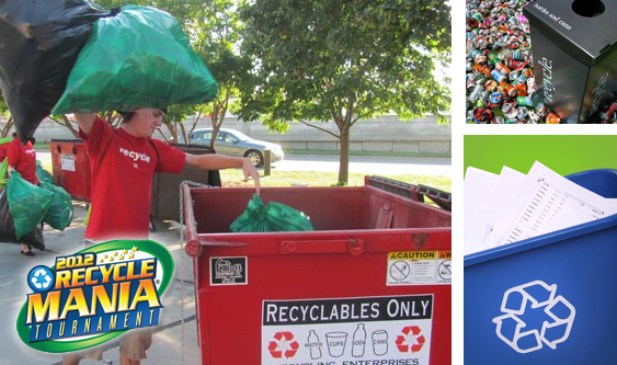 "UNL is participating in ""Recyclemania,"" a national recycling contest between 534 universities."