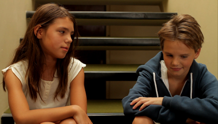 Jeanne Disson as Lisa and Zoé Heran as Laure/Mikael in 'Tomboy'