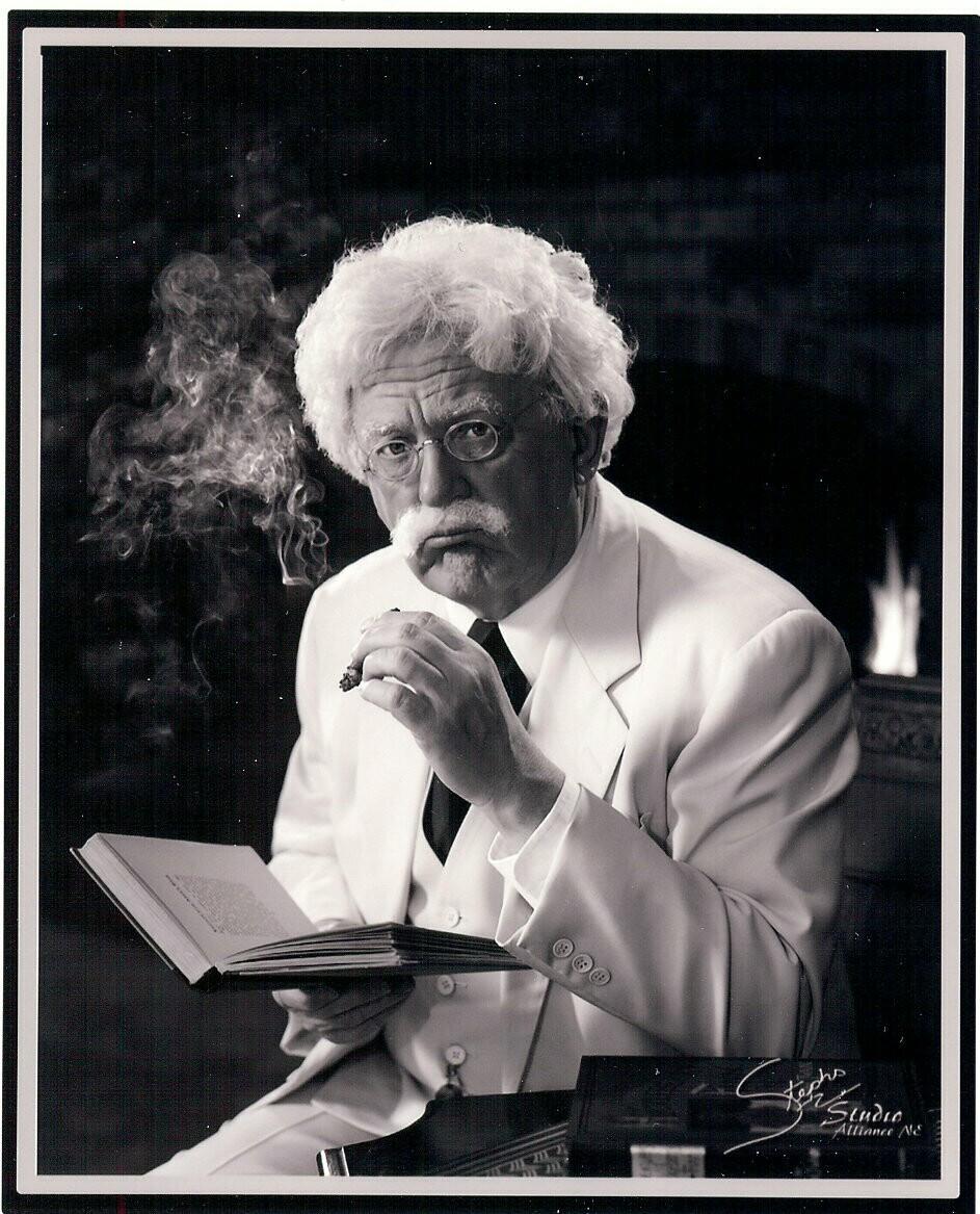 Wally Seilor as Mark Twain. Courtesy photo.