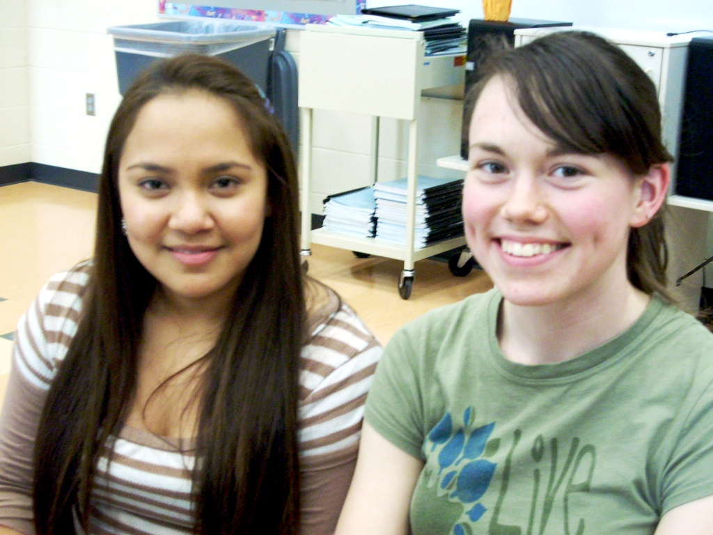 A UNL student mentor and her protégé.