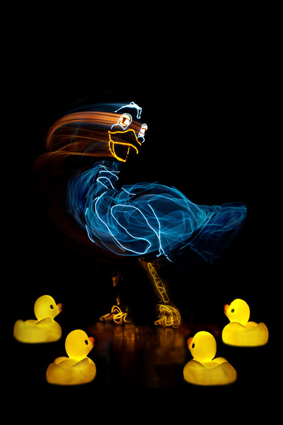 """Giant luminescent puppets that give the art of story telling a whole new look at """"The Ugly Duckling"""""""