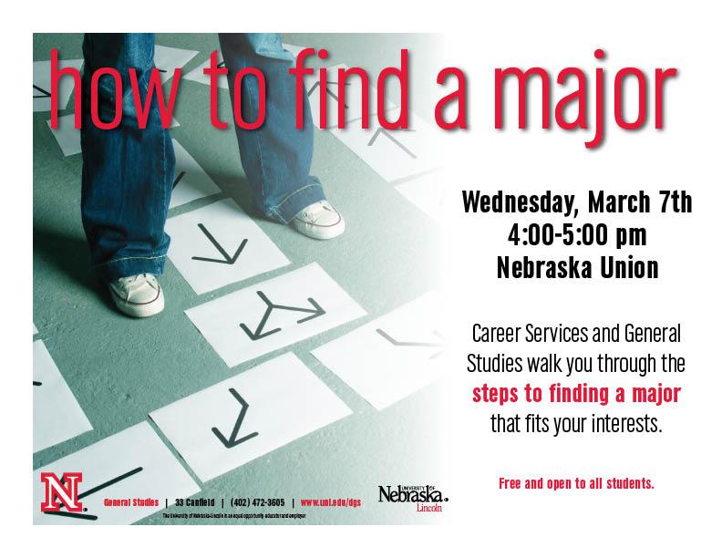 """""""Find A Major"""" workshop March 7"""