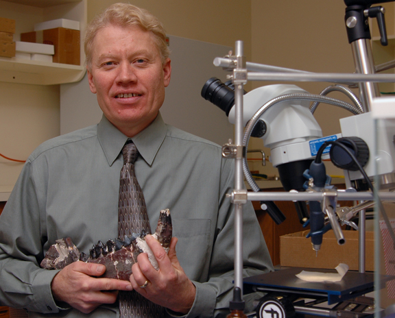 A research project led in part by UNL's Ross Secord used the geochemical composition of fossil mammal teeth to document the shrinkage of a miniature horse 65-million years ago.