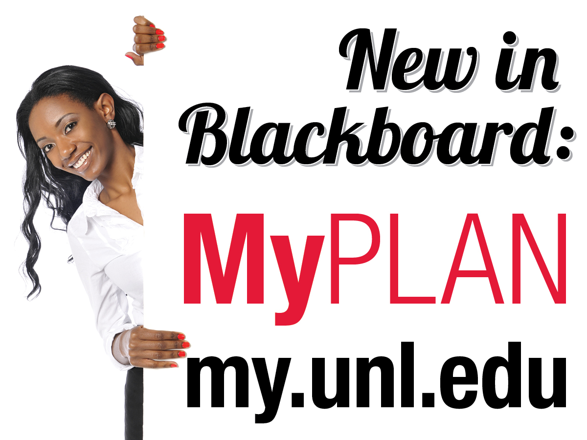 MyPLAN is accessible as a new tab in Blackboard.