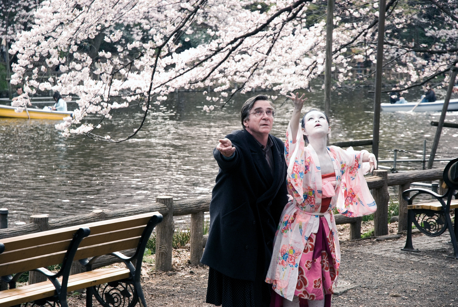 """Scene from the movie """"Cherry Blossoms."""""""