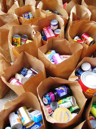 Donate canned goods for a Thompson Scolars food drive next week.